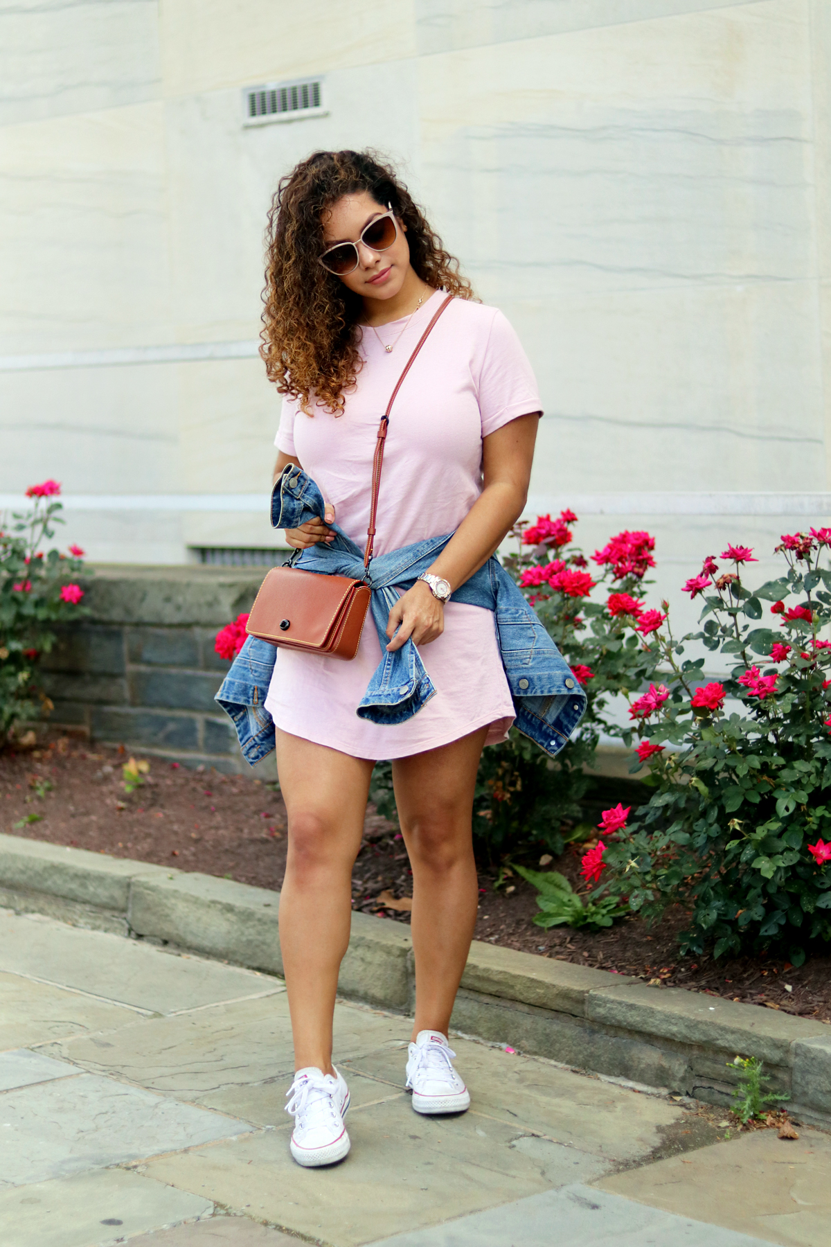 Weekend Style: Mini T-Shirt Dress
